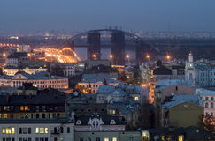 Ciudad de Kiev de la tarde Imagen de archivo libre de regalías
