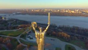 Ciudad de Kiev - el capital de Ucrania Kyiv Patria de la madre almacen de video