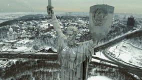 Ciudad de Kiev - el capital de Ucrania Kyiv Patria de la madre, Kiev, Ucrania almacen de video