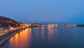 Ciudad de Kiev en el amanecer Imagenes de archivo