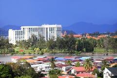 Ciudad de Kota Kinabalu Foto de archivo libre de regalías