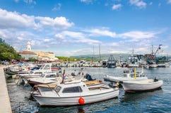 Ciudad de Krk, isla Krk en Croacia Imagen de archivo libre de regalías
