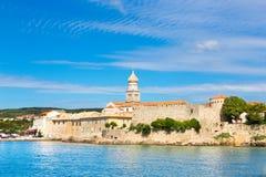 Ciudad de Krk, mediterránea, Croacia, Europa Fotografía de archivo