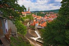 Ciudad de Krumlov checo Fotografía de archivo libre de regalías