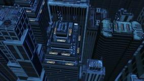 ciudad de la antena 3d stock de ilustración