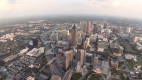 Ciudad de la antena de Atlanta almacen de metraje de vídeo