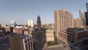 Ciudad de la antena de Detroit almacen de video