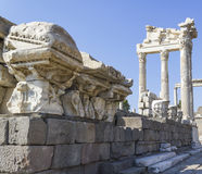 Ciudad de la antigüedad de Akropolis, Pérgamo Imágenes de archivo libres de regalías