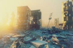 Ciudad de la apocalipsis stock de ilustración