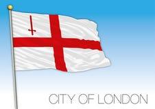 Ciudad de la bandera de Londres, Reino Unido Foto de archivo