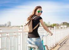 Ciudad de la bicicleta Imagen de archivo libre de regalías