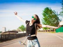 Ciudad de la bicicleta Imágenes de archivo libres de regalías