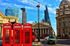 Ciudad de la calle de Londres Foto de archivo libre de regalías
