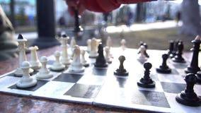 Ciudad de la calle del juego del ajedrez metrajes