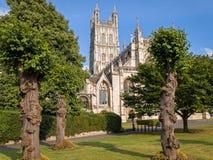 Ciudad de la catedral de Gloucester, Inglaterra imagen de archivo libre de regalías