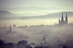 Ciudad de la contaminación imágenes de archivo libres de regalías