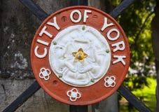 Ciudad de la cresta de York foto de archivo libre de regalías
