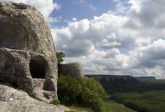 Ciudad de la cueva de Eski-Kermen Imagen de archivo libre de regalías