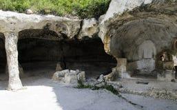 Ciudad de la cueva de Eski-Kermen Imágenes de archivo libres de regalías