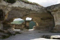 Ciudad de la cueva de Eski-Kermen Imagen de archivo