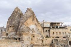 Ciudad de la cueva de Goreme Imagenes de archivo