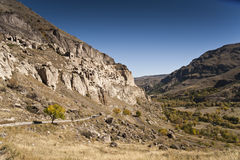 Ciudad de la cueva en Georgia Foto de archivo