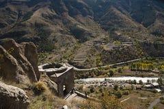 Ciudad de la cueva en Georgia Imagen de archivo