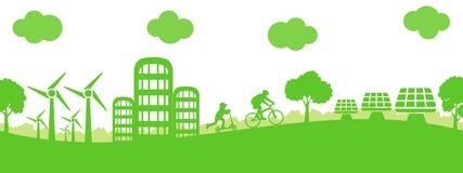 Ciudad de la ecología del concepto - acción ilustración del vector
