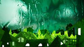 Ciudad de la ecología en fondo fresco de la naturaleza Fotos de archivo