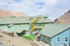 Ciudad de la explotación minera del fantasma de Sewell, Chile Fotografía de archivo