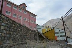 Ciudad de la explotación minera del fantasma de Sewell, Chile Imagen de archivo