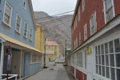 Ciudad de la explotación minera del fantasma de Sewell, Chile Imagen de archivo libre de regalías