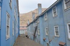 Ciudad de la explotación minera del fantasma de Sewell, Chile Imagenes de archivo