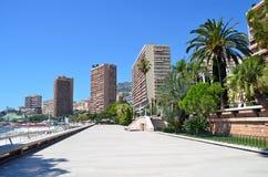 Ciudad de la foto de la opinión de Mónaco Imagenes de archivo
