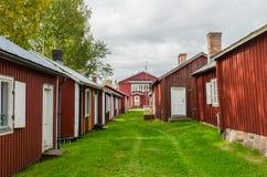 Ciudad de la iglesia de Gammelstad imagen de archivo libre de regalías