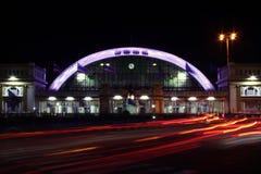 Ciudad de la iluminación del tráfico Foto de archivo libre de regalías