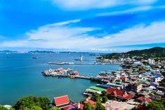 Ciudad de la isla Foto de archivo libre de regalías