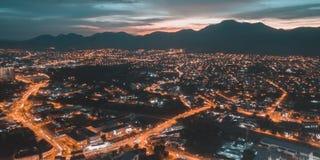 Ciudad de la lava Foto de archivo libre de regalías