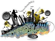 Ciudad de la música Imagen de archivo libre de regalías