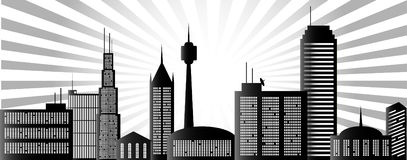 Ciudad de la mañana Imagen de archivo libre de regalías