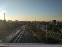 Ciudad de la mañana Foto de archivo