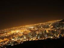 Ciudad de la madre por noche Fotografía de archivo