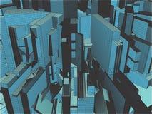 Ciudad de la megalópoli del vector de los rascacielos Foto de archivo libre de regalías