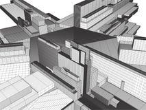 Ciudad de la megalópoli del vector de los rascacielos Imagenes de archivo