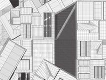 Ciudad de la megalópoli del vector de los rascacielos Fotografía de archivo libre de regalías