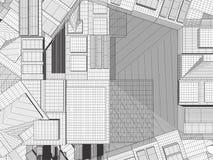 Ciudad de la megalópoli del vector de los rascacielos Fotos de archivo
