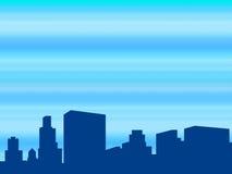 Ciudad de la metrópoli ilustración del vector