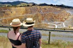 Ciudad de la mina de oro de Waihi - Nueva Zelanda Fotografía de archivo libre de regalías