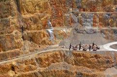 Ciudad de la mina de oro de Waihi - Nueva Zelanda Imagenes de archivo