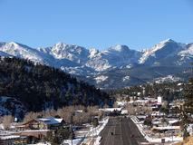 Ciudad de la montaña Fotos de archivo libres de regalías
